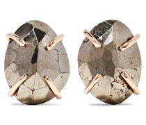 Ohrringe Aus 14 karat  Mit Pyriten