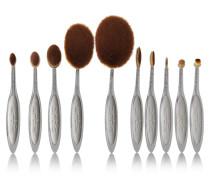 Elite Smoke 10 Brush Set – Set Aus Zehn Make-up-bürstchen - Dunkelgrau