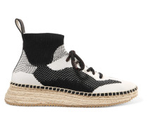 Dakota Espadrille-sneakers aus Stretch-strick -