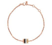 Quatre Classique Armband Aus 18 Karat Rosé-, Gelb- Und Weißgold Mit Diamanten -