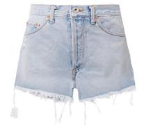 Jeansshorts In Distressed-optik -