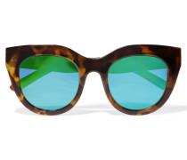 Air Heart Verspiegelte Sonnenbrille Mit Cat-eye-rahmen Aus Azetat - Horn