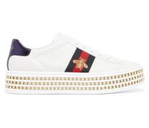 Ace Verzierte Plateau-sneakers aus Leder