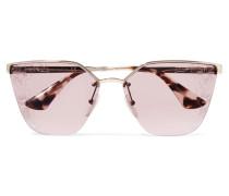 farbene Sonnenbrille mit Cat-eye-rahmen und Azetatdetails