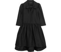 Gewebtes Kleid Mit Schluppe - Schwarz