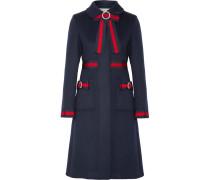 Verzierter Mantel Aus Wolle Mit Ripsbandbesätzen -