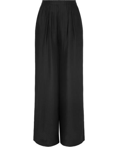 Artistic Gestreifte Pyjama-hose aus Glänzendem Seiden-jacquard