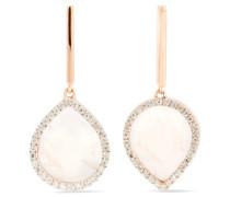 Naida Lotus Ohrringe Aus -vermeil Mit Quarzen Und Diamanten