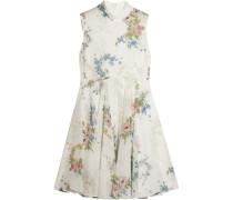 Hambledon Kleid Aus Seiden-georgette Mit Floralem Print - Elfenbein