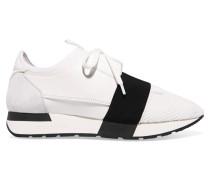 Race Runner Sneakers Aus Leder, Mesh Und Neopren -