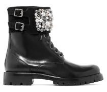 Verzierte Ankle Boots Aus Leder -