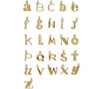 Alphabet Letter A–z Buchstabenanhänger Mit Gold-vermeil