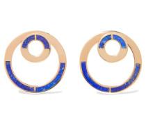 Quarter Goldfarbene Ohrringe Mit Lapislazuli - Blau