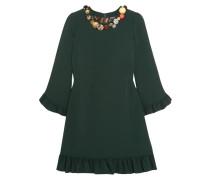Verziertes Kleid Aus Crêpe Mit Rüschen -