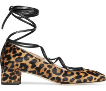 Evelyn Pumps aus Kalbshaar mit Leopardenprint