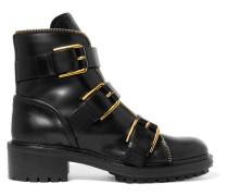 Ambra Ankle Boots Aus Leder Mit Schnallen -