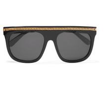 Sonnenbrille Mit D-rahmen Aus Azetat Und Kettenbesatz -