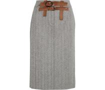 Tweed-rock Aus Einer Woll-kaschmirmischung Mit Fischgratmuster - Grau