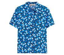Bedrucktes Hemd Aus Baumwollpopeline -