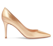 Pumps Aus Metallic-leder - Gold