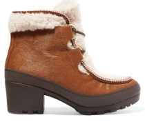 Berkley Ankle Boots Aus Kalbshaar Und Shearling - Braun