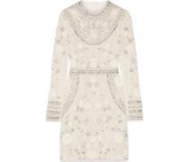 Verziertes Minikleid Aus Tüll Für Die Braut - Elfenbein