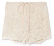 Yara Shorts aus Gehäkelter Baumwollspitze -