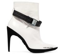 For Walking Bedruckte Ankle Boots Aus Leder -