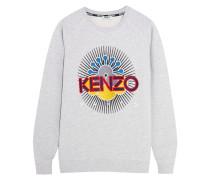 Besticktes Sweatshirt Aus Baumwolle - Hellgrau