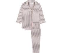 Modern Attitude Gestreifter Pyjama Aus Jersey Aus Stretch-modal -