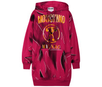 Sweatshirt Aus Bedrucktem Jersey In Oversized-passform - Magenta