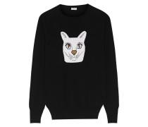 Pullover aus einer Wollmischung mit Intarsienmotiv