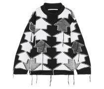 Wollpullover Mit Intarsienmuster -