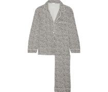 Sleep Chic Pyjama Aus Jersey Mit Leopardenprint - Grau