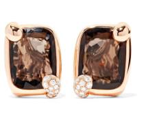 Ritratto Ohrringe Aus 18 Karat Gold Mit Quarz Und Diamanten -