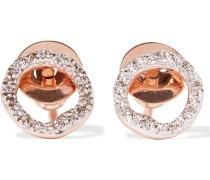 Riva Circle Ohrringe mit Roségoldauflage und Diamanten