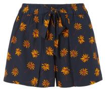 Shorts aus Voile mit Blumenprint -