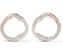 Riva Ohrringe mit Roségoldauflage und Diamanten