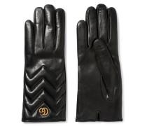 Handschuhe Aus Gestepptem Leder -