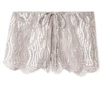Minnie Shorts aus Spitze mit Metallic-effekt -
