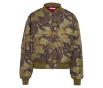 Bomberjacke Aus Shell Mit Camouflage-print - Armeegrün