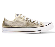 Chuck Taylor All Star Sneakers Aus Beschichtetem Canvas In Metallic-optik - Gold