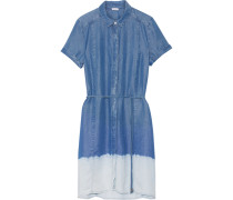 Sandollar Hemdblusenkleid Aus Tencel® Mit Farbverlauf - Blau