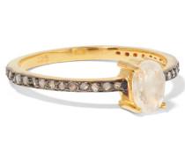 Vereter Ring Mit Mondstein Und Diamanten