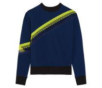 Sweatshirt Aus Scuba-jersey Mit Gehäkelten Besätzen - Navy
