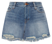 Ivy Jeansshorts In Distressed-optik -