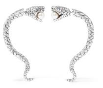 Ohrringe aus Sterling mit Kunstperlen