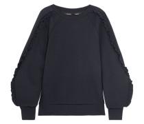 Sweatshirt Aus Einer Baumwollmischung Mit Rüschen -