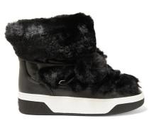 Nala Stiefel Aus Faux Fur Und Strukturiertem Leder - Schwarz