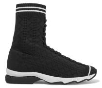 Sneakers Aus Perforiertem Stretch-strick -
